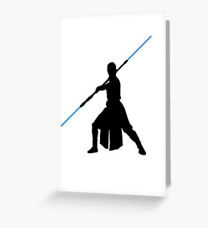 Star Wars - Rey lightsaber Greeting Card