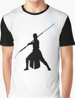 Star Wars - Rey lightsaber Graphic T-Shirt