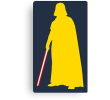 Star Wars Darth Vader Yellow Canvas Print