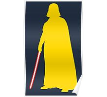 Star Wars Darth Vader Yellow Poster
