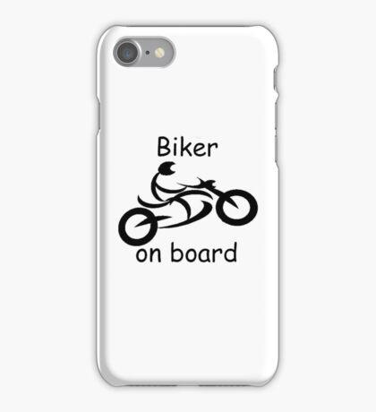 Biker on board 5 iPhone Case/Skin