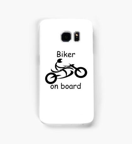 Biker on board 5 Samsung Galaxy Case/Skin