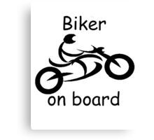 Biker on board 5 Canvas Print
