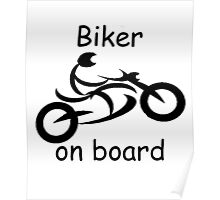 Biker on board 5 Poster