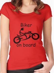 Biker on board 5 Women's Fitted Scoop T-Shirt