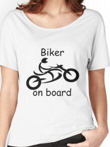 Biker on board 5 Women's Relaxed Fit T-Shirt