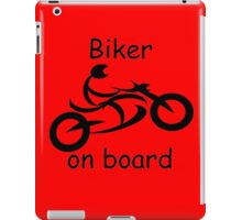 Biker on board 5 iPad Case/Skin