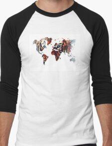 World Map 2067 Men's Baseball ¾ T-Shirt
