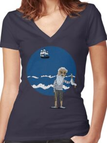The Ancient Mariner Women's Fitted V-Neck T-Shirt