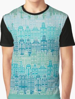 Blue streets of Old town Graphic T-Shirt