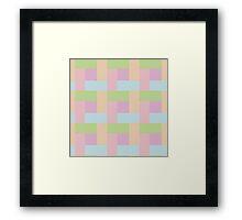 Pastel Hue Block Pattern Framed Print