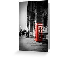 Iconic London Telephone box Greeting Card