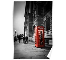 Iconic London Telephone box Poster