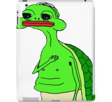 Turtle pepe iPad Case/Skin