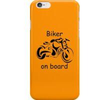 Biker on board 4 iPhone Case/Skin