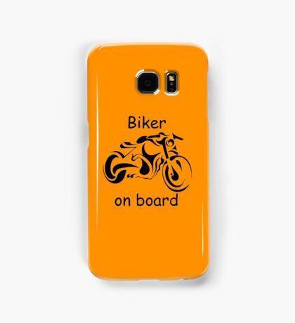 Biker on board 4 Samsung Galaxy Case/Skin