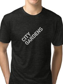 City Gardens - Stage Wall Stencil Design Tri-blend T-Shirt