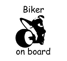 Biker on board 3 Photographic Print