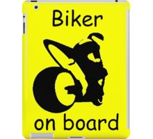 Biker on board 3 iPad Case/Skin