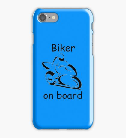 Biker on board 2 iPhone Case/Skin