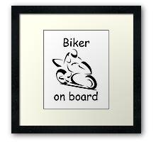 Biker on board 2 Framed Print