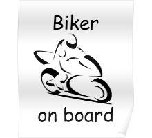Biker on board 2 Poster