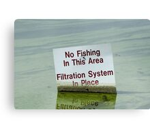 Filtration System in Place Canvas Print