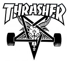 Thrasher zipper logo by hiltxn
