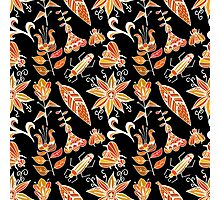 Girly Vintage Tribal Floral Pattern Photographic Print