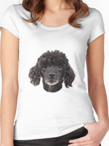 cute little poodle Women's Fitted Scoop T-Shirt