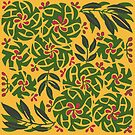 Tropical floral pattern by Jeff East