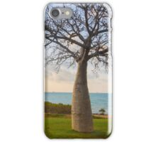 baobab tree with clouds  iPhone Case/Skin