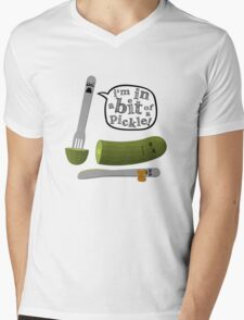 Don't play with dead pickles Mens V-Neck T-Shirt
