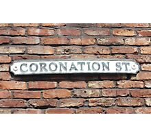 Coronation street  sign. Photographic Print