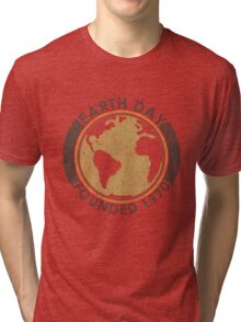 Earth Day: Old School Tri-blend T-Shirt