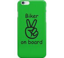 Biker on board iPhone Case/Skin