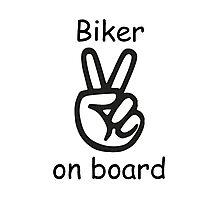 Biker on board Photographic Print