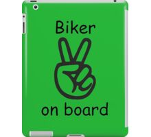 Biker on board iPad Case/Skin