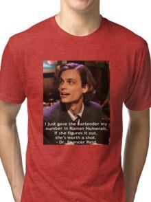 Dr. Spencer Reid 1 Tri-blend T-Shirt