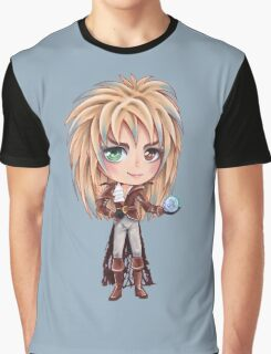 David Bowie - Chibi Labyrinth Goblin King Graphic T-Shirt