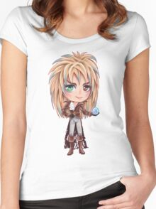 David Bowie - Chibi Labyrinth Goblin King Women's Fitted Scoop T-Shirt
