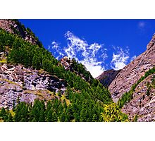 Swiss Alps near Zermatt Photographic Print