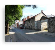 A street,Mostar Canvas Print