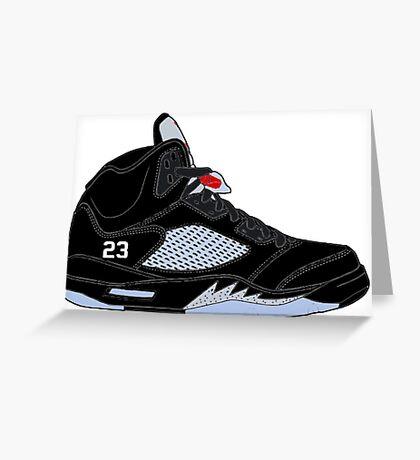 "Air Jordan V (5) ""Black Metallic"" Greeting Card"