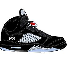 "Air Jordan V (5) ""Black Metallic"" Photographic Print"