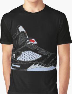 "Air Jordan V (5) ""Black Metallic"" Graphic T-Shirt"
