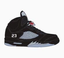 "Air Jordan V (5) ""Black Metallic"" Kids Tee"