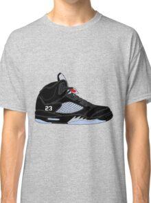 "Air Jordan V (5) ""Black Metallic"" Classic T-Shirt"