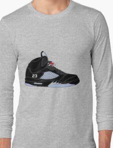 "Air Jordan V (5) ""Black Metallic"" Long Sleeve T-Shirt"