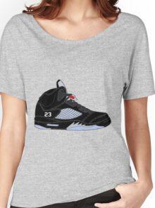 "Air Jordan V (5) ""Black Metallic"" Women's Relaxed Fit T-Shirt"